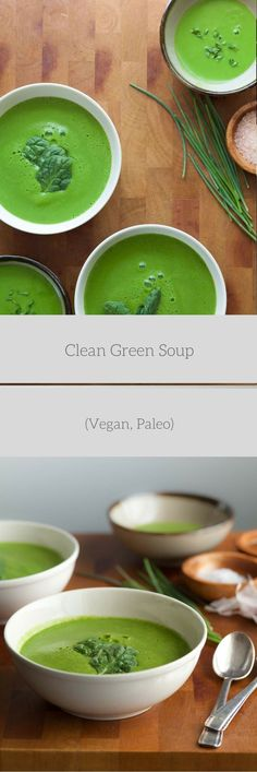 A cleansing green soup to nourish and revitalize your body anytime of year. I know it's almost summer and the so-called soup season has long passed, but I just had to share this one with you…