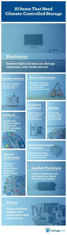 35 best self storage unit organization images on pinterest self infographic explaining why 10 common items require climate controlled storage fandeluxe Gallery