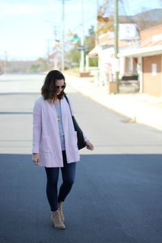 With Style & Grace   Pink Velour Cardigan