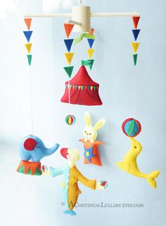 Circus Mobile No.4 by AContinualLullaby on Etsy, $110.00