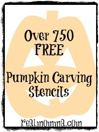 Over 750 FREE Pumpkin Carving Stencils – A Round Up