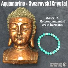 #Aquamarine allows one to look at emotional situations from other perspectives. It can help overcome judgment of others and encourage tolerance..•••#courage #yoga #Mala #Bead #Bracelet #mens #bracelets #womens #energy #healing #spiritual #meditation #crystal #crystals #love #style #luck #lucky #artisan #handmade #jewelry #OOAK #fashion #blessed #design #karma #buddha