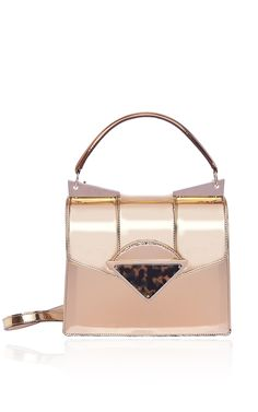 Total Gold Small Cindy Bag by Sara Battaglia for Preorder on Moda Operandi