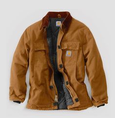 Find Carhartt Men's Big & Tall Arctic Quilt Lined Duck Traditional Coat online. Shop the latest collection of Carhartt Men's Big & Tall Arctic Quilt Lined Duck Traditional Coat from the popular stores - all in one Work Jackets, Men's Coats And Jackets, Roaring 20s Mens Fashion, Shirt Without Collar, Carhartt Jacket, Carhartt Detroit Jacket, Mens Big And Tall, Men Dress, Mens Dress Outfits