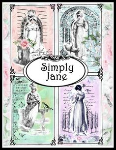 Simply Jane Regency Collage Sheet Digital Printable