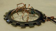 SteamPunk Spider Pendent Unisex Necklace.