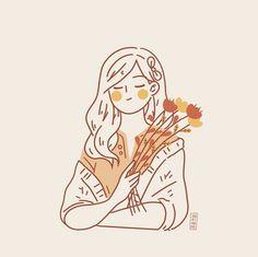 Kawaii Drawings, Cute Drawings, Cute Girl Illustration, Cartoon Art Styles, Cute Cartoon Wallpapers, Girl Cartoon, Anime Art Girl, Cute Art, Illustrations
