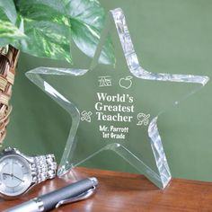 Personalized Engraved Teacher Star Keepsake - Gifts Happen Here