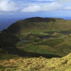 Ilha do Corvo. Açores, Portugal