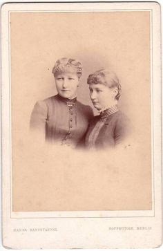 Augusta Viktoria and Caroline Mathilde of Schleswig-Holstein