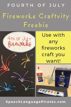 fireworks speech and language of july craft for preschoolers freebie Work Activities, Speech Therapy Activities, Speech Language Pathology, Language Activities, Speech And Language, Childcare Activities, Articulation Therapy, Fireworks Craft, Preschool Crafts