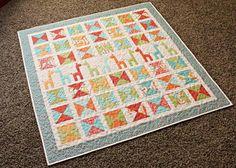 Lovey Giraffes Quilt Pattern | Craftsy