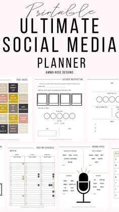 Using this Social Media Planner will increase your productivity and confidence in your small business. Grow your social media accounts more than you could ever imagine! This printable planner has been simply made to help you set your priorities and manage your time like a pro! Designed for stress-free daily planning and more time living life simply.
