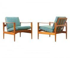 Illum Wikkelso Teak Lounge Chairs
