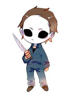 How To Draw Chibi Michael Myers