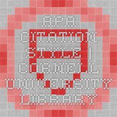 APA Citation Style | Cornell University Library