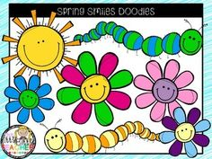 Thank you so much for my 250 followers!  I couldn't do it without you!  As a thank you this set is a forever freebie.This is a super cute set of spring smile doodles including caterpillars, flowers, and a sun.  There are 10 images in this set.  This includes 7 color images and 3 black and white images.