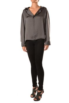 Pull Over Blouse Black Jeans, Blouse, Pants, Jackets, Fashion Design, Collection, Tops, Trouser Pants, Down Jackets