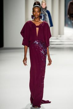 """Maria Borges for CH A whimsical play on proportions,"""" Carolina Herrera promised before her show."""