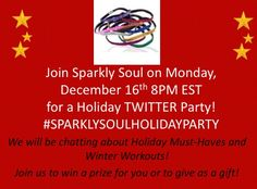 Tonight is @SPARKLYSOULINC first ever Holiday #Twitter #Party! Prizes fun & sparkle! Monday, December 16th 8pm EST - use hashtag #SPARKLYSOULHOLIDAYPARTY  Will you be partying with us?