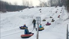 Pando Winter Sports Park is a fun place for families to get active in the winter. #wintersports #skiing #tubing