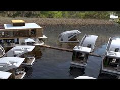 Floating hotel with catamaran apartments by Salt & Water - YouTube