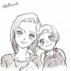 「DBらくがきログ」/「福@8/15土・東U32b」の漫画 [pixiv] #Android18 #Marron