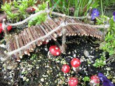 Handmade miniature garden twig footbridge 7 inches by CLOUDFAIRY