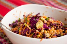 3 bean cilantro salad with orange vinaigrette is a simple mean that be easily be taken to work! #healthyfood