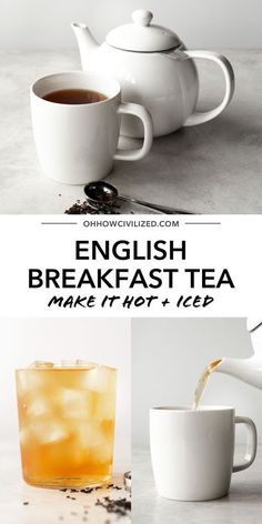 You'll hear about English Breakfast Tea quite often if you're just starting to drink tea. It's a great staple drink that's refreshing whether made hot or iced. Learn how to make yours the proper way - follow my tea sommelier guide! Milk Tea Recipes, Iced Tea Recipes, Drink Recipes, Caffeine In Tea, Iced Tea Maker, Peach Ice Tea, English Breakfast Tea, Homemade Tea, Tea Sandwiches