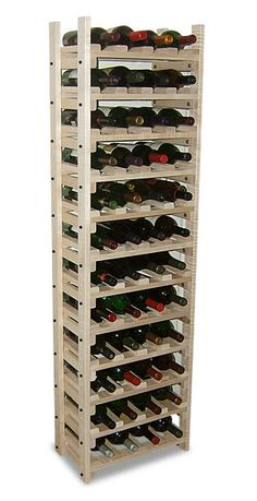 Maple Wine Rack - Holds 48 Bottles: The Wine Rack Shop