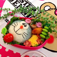 Cute Bento, Bento Box, Food Art, Food And Drink, Yummy Yummy, Lunches, Kawaii, Cartoon, Anime