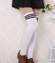 bf0ece27853 NEW 2015 Women Stockings winter Stripe over knee socks thigh high cheap  long socks sexy Cotton vintage stockings