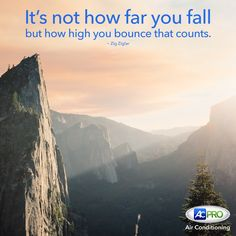It's not how far you fall, but how high you bounce that counts! #MotivationalMonday