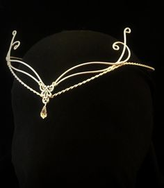Celtic Handfasting wedding elven tiara circlet by ElvenstarDesign
