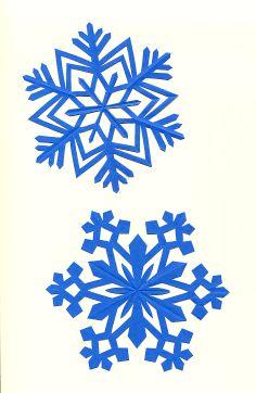 Snowflakes -. Japanese kirigami art by Syandery