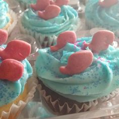 Bubble guppies theme cupcakes