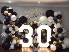 30th Birthday Themes, Birthday Balloon Decorations, Man Birthday, Birthday Celebration, 30th Birthday Ideas For Women, Birthday Quotes, 30th Birthday Cakes For Men, Surprise Party Decorations, 30th Cake