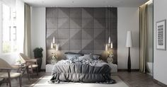 Just liked this Pin: 42 Gorgeous Grey Bedrooms http://ift.tt/2jYf9AZ