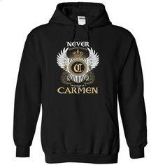 CARMEN - Never Underestimated - #shirt #sweatshirt girl. I WANT THIS => https://www.sunfrog.com/Names/CARMEN--Never-Underestimated-baloosrttk-Black-51889911-Hoodie.html?68278