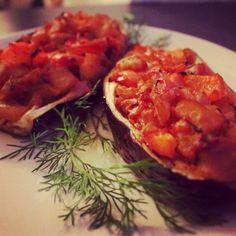 Yummy Stuffed Eggplant #healthy #vegan