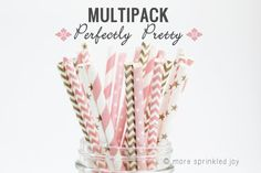 Perfectly Pretty Multipack of vintage paper straws