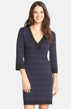 Laundry by Shelli Segal Stretch Sweater Dress available at #Nordstrom***** I really REALLY love this dress and would love one like it in my price range!!!****  Tried it on in XL and it fit me perfectly.