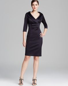Kay Unger Dress - Stretch Satin | Bloomingdale's