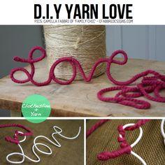 """DIY Yarn Love from Camilla Fabbri Auch mit """"meins"""" oder """"Annett"""" fürs Arbeitszimmer möglich"""