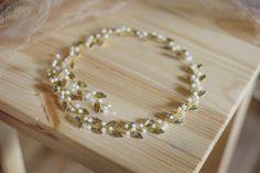 Gold Bridal Hair Vine-Wedding hair vine Gold leaf hair vine