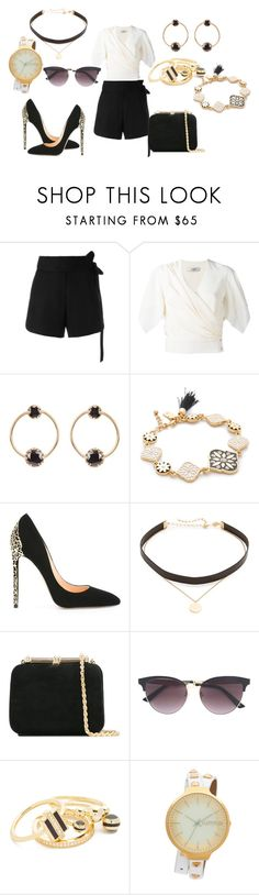 """Sassy Looks"" by hillarymaguire ❤ liked on Polyvore featuring IRO, Lanvin, Loren Stewart, Kate Spade, Cerasella Milano, Jennifer Zeuner, Loriblu, Gucci, Noir Jewelry and RumbaTime"