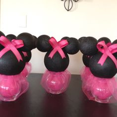 New baby shower centerpieces for girls diy mice ideas Minnie Mouse Decorations, Minnie Mouse Theme Party, Mickey Mouse Clubhouse Party, Minnie Mouse 1st Birthday, Minnie Mouse Baby Shower, Mickey Party, Mouse Parties, 1st Birthday Parties, 2nd Birthday