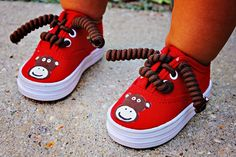 Monkey shoes  Hand painted Anna Banana Monkey by Snanimals on Etsy, $25.00