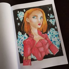 "Páči sa mi to: 128, komentáre: 17 – Stanka (@stanislava007) na Instagrame: ""This beauty is from Colouring Heaven magazine - Mystical beauties special. I used Caran d'Ache…"""